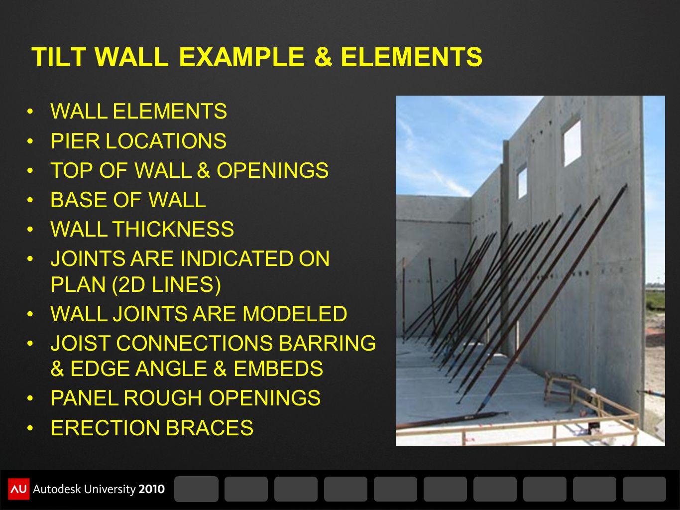 TILT WALL EXAMPLE & ELEMENTS