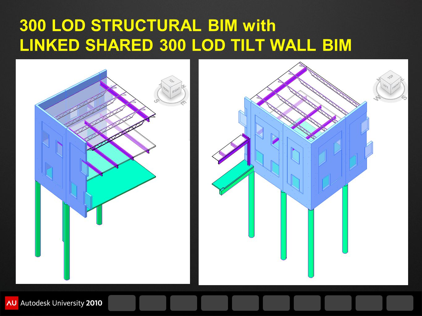 300 LOD STRUCTURAL BIM with LINKED SHARED 300 LOD TILT WALL BIM