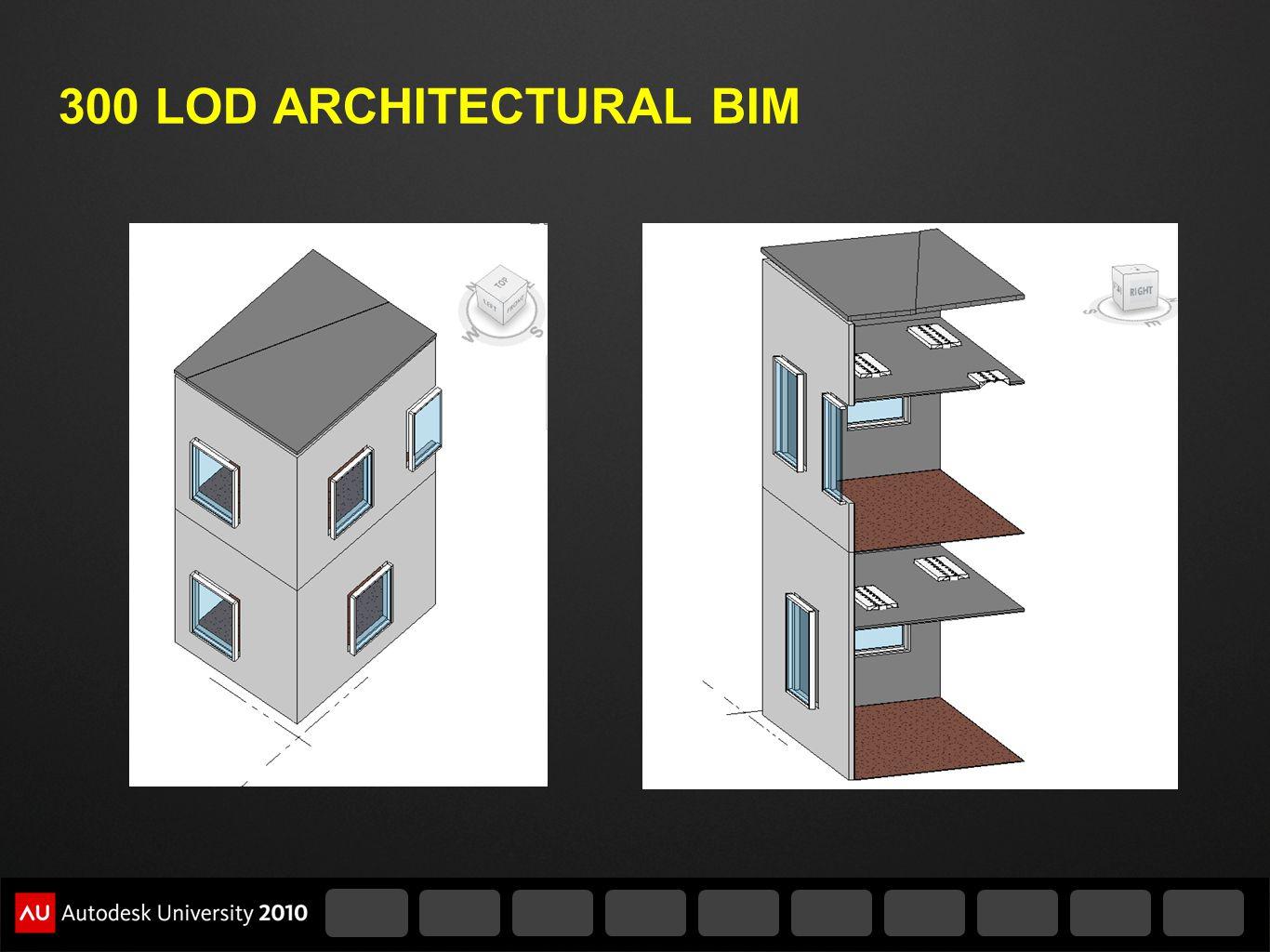 300 LOD ARCHITECTURAL BIM