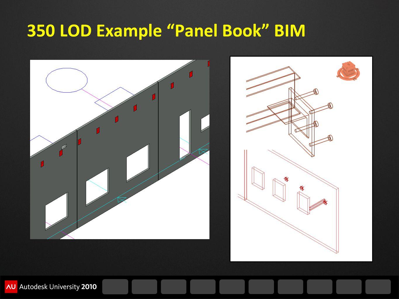 350 LOD Example Panel Book BIM