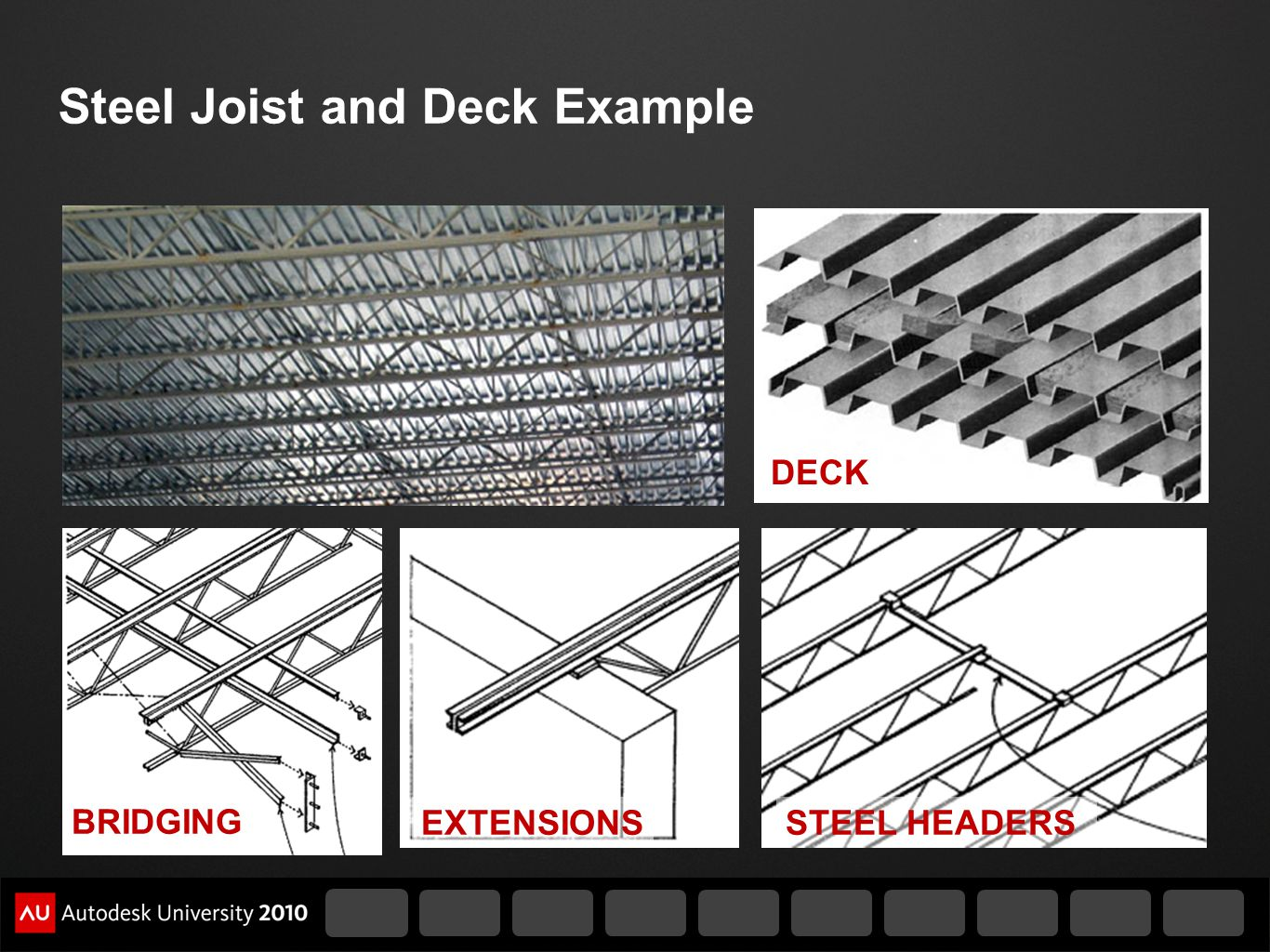 Steel Joist and Deck Example
