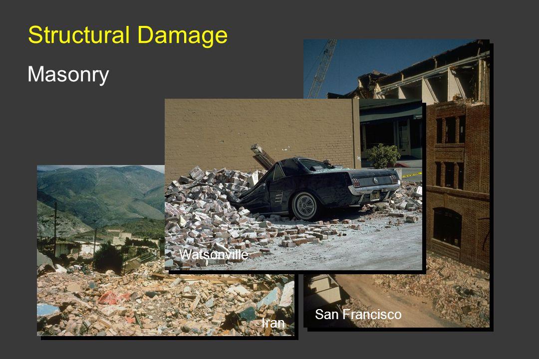 Structural Damage San Francisco Masonry Watsonville Iran