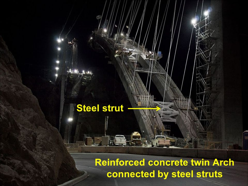 Reinforced concrete twin Arch connected by steel struts