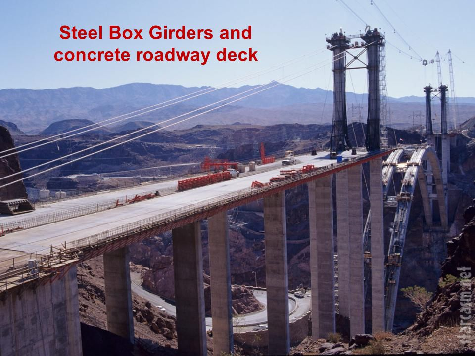 Steel Box Girders and concrete roadway deck