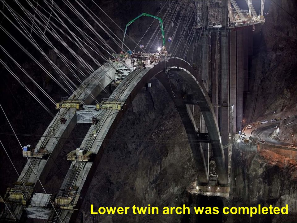 Lower twin arch was completed