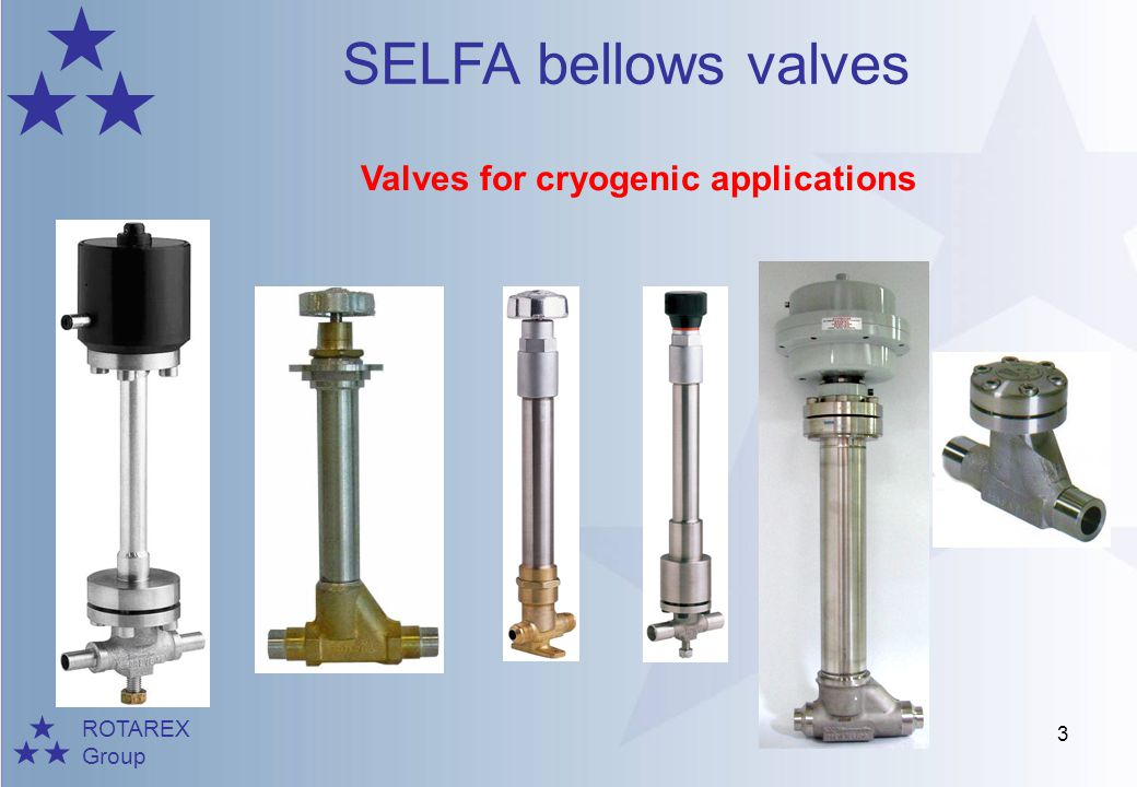 Valves for cryogenic applications