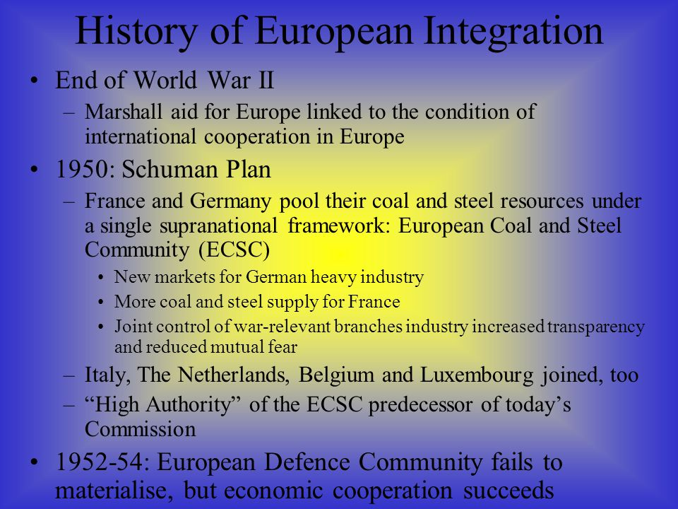 a history of the coal and steel industry in europe Economic history, energy security jel: e13, e59, f13, f59, l16, l44, n44 abstract the establishment of the european coal and steel community (ecsc)  a fundamental issue was the fact that the coal industry problem.