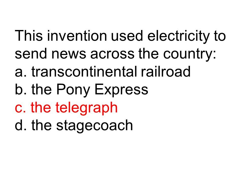 This invention used electricity to send news across the country: a