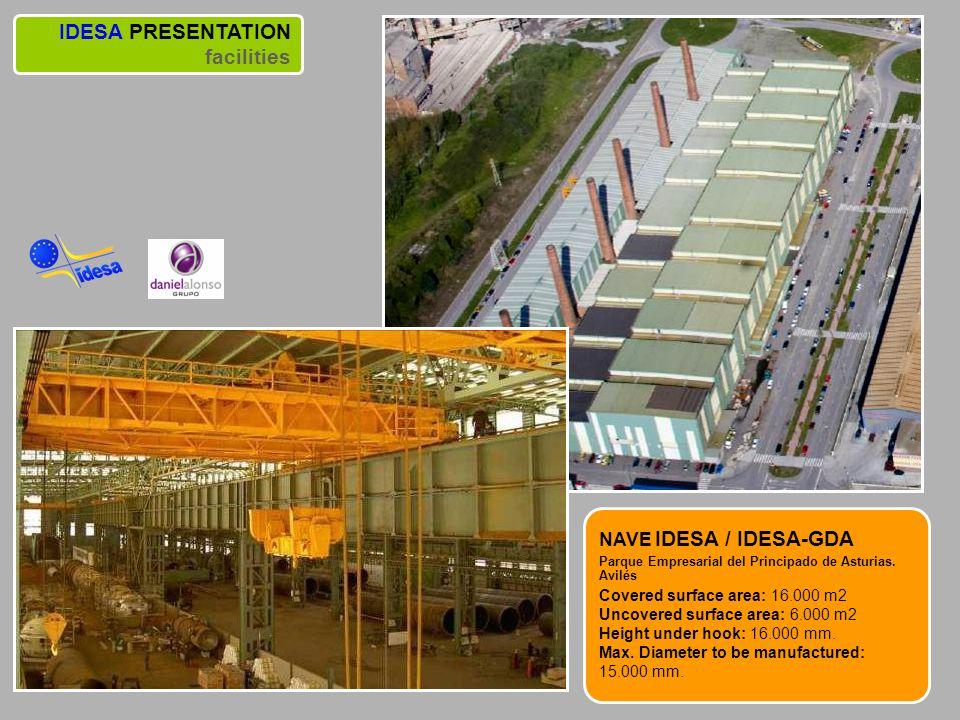 IDESA PRESENTATION facilities NAVE IDESA / IDESA-GDA