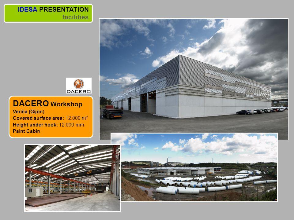 DACERO Workshop IDESA PRESENTATION facilities Veriña (Gijón)