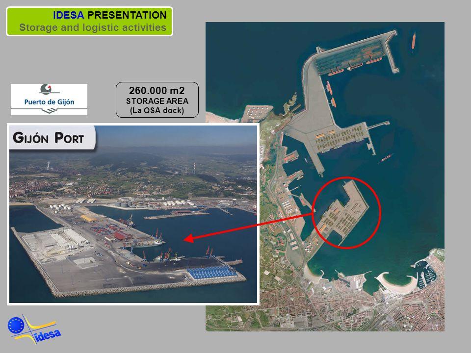 260.000 m2 STORAGE AREA (La OSA dock)