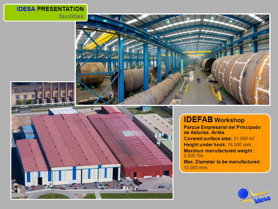 IDEFAB Workshop IDESA PRESENTATION facilities