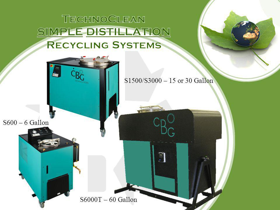 TechnoClean SIMPLE DISTILLATION Recycling Systems