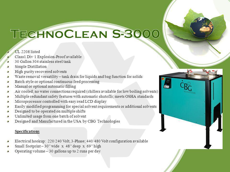 TechnoClean S-3000 UL 2208 listed