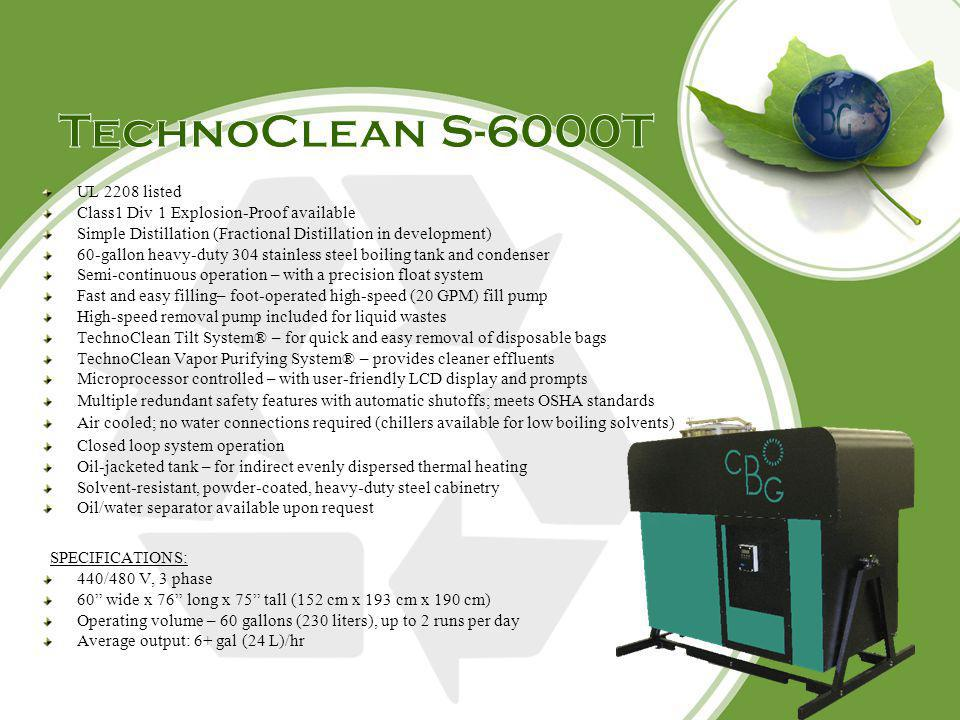 TechnoClean S-6000T UL 2208 listed