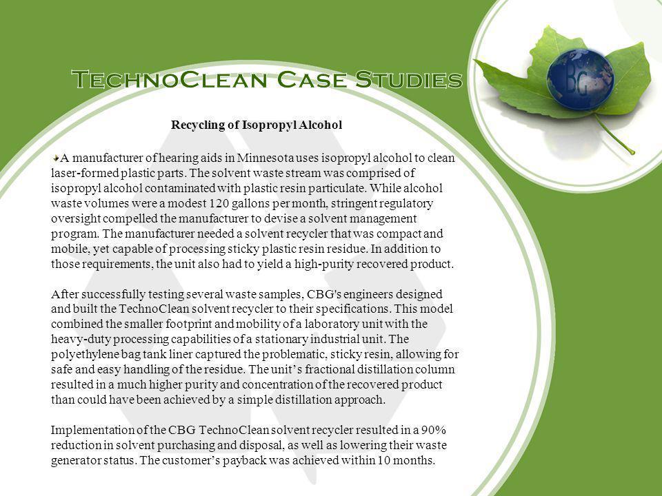 TechnoClean Case Studies