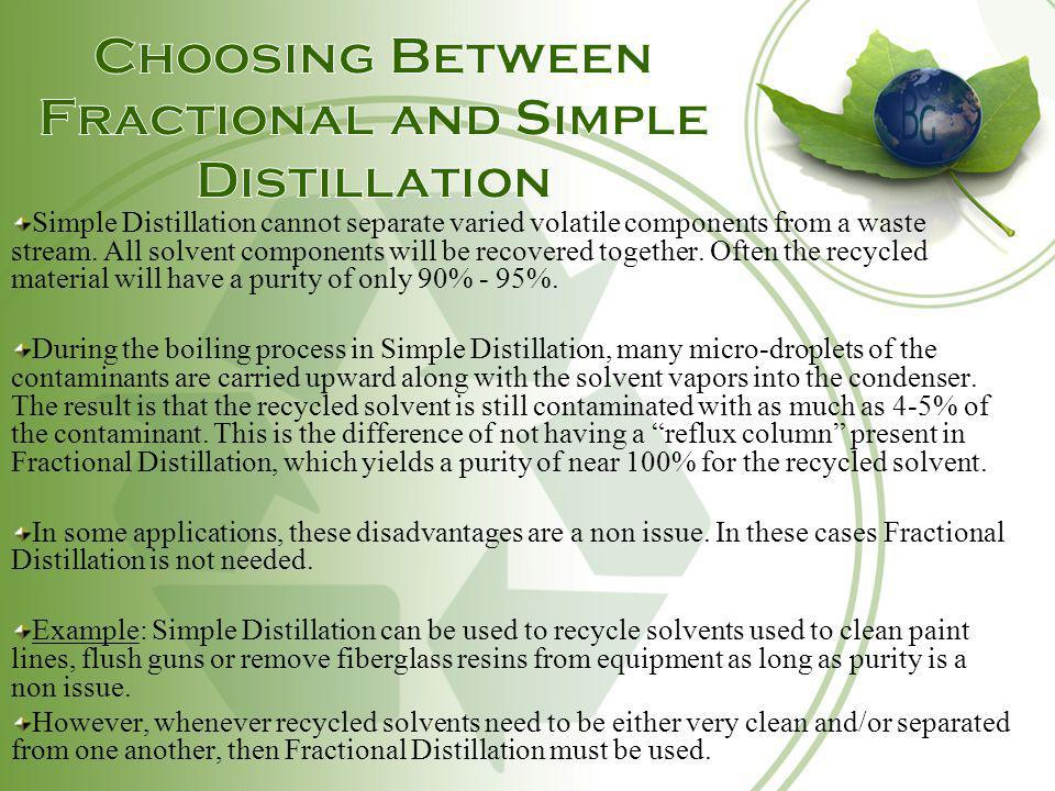 Choosing Between Fractional and Simple Distillation