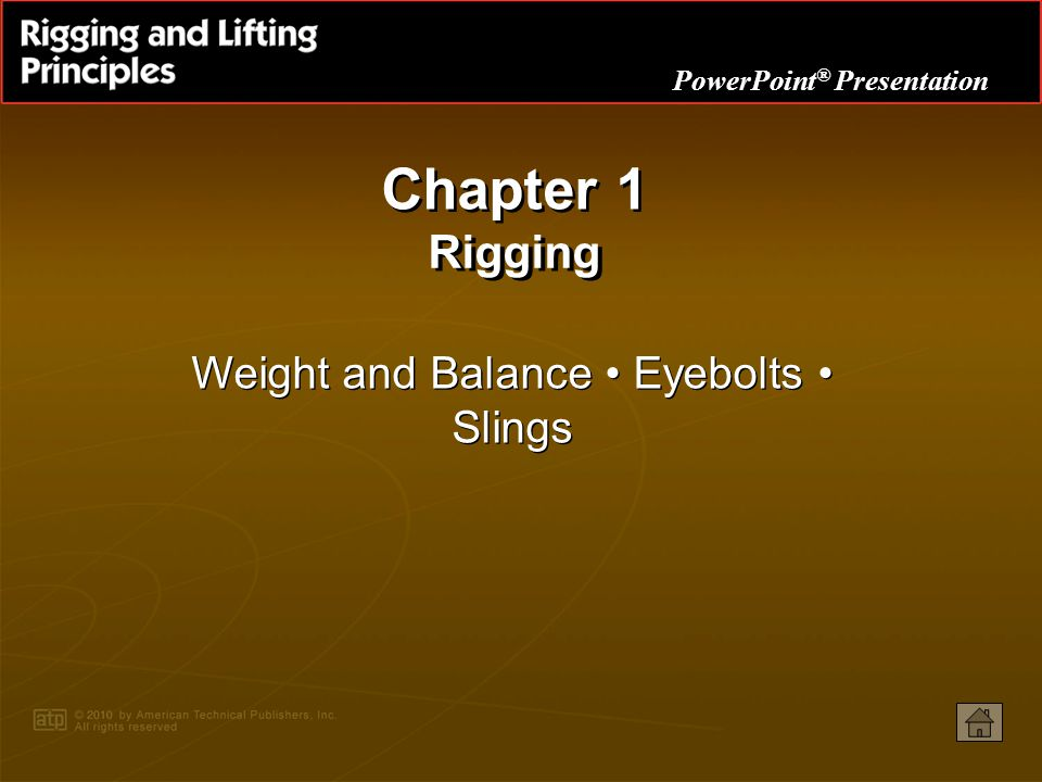 Weight and Balance • Eyebolts • Slings