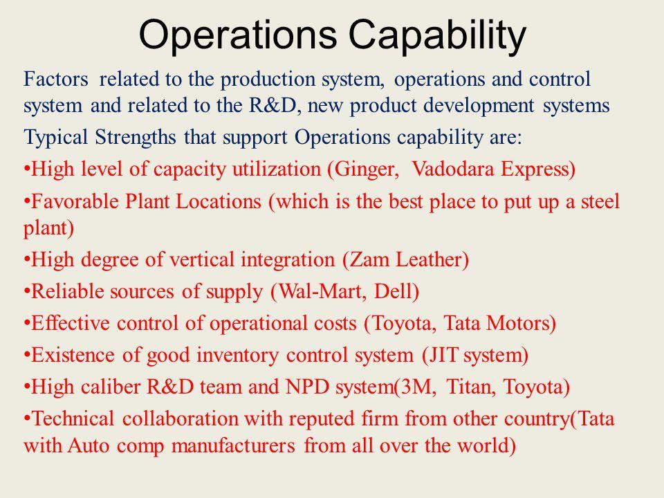 Operations Capability