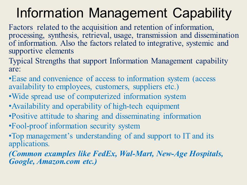Information Management Capability