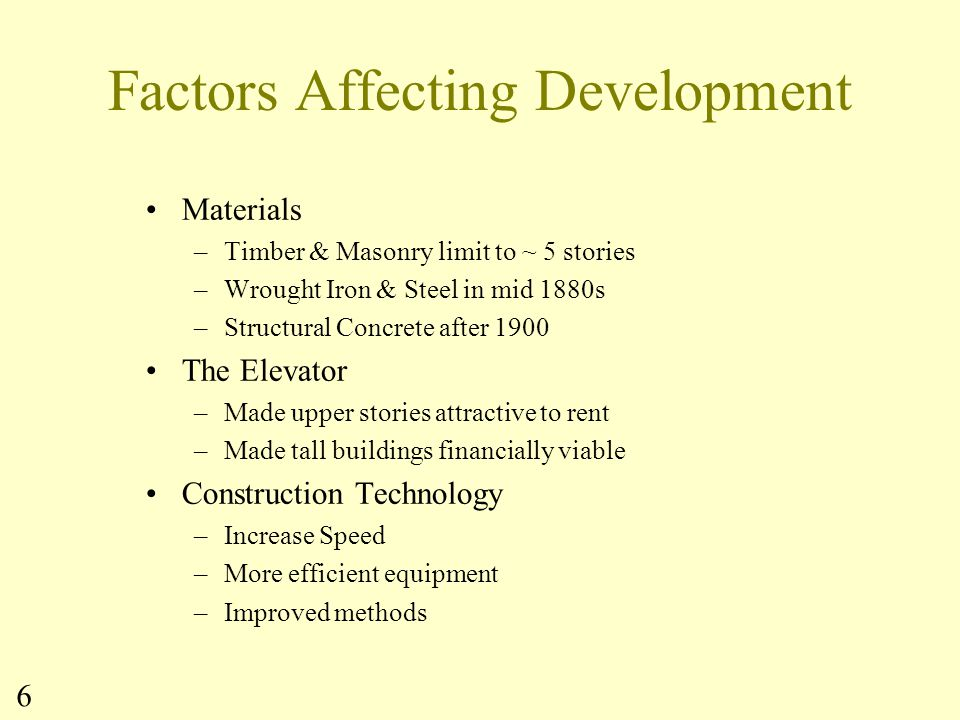 Factors Affecting Development