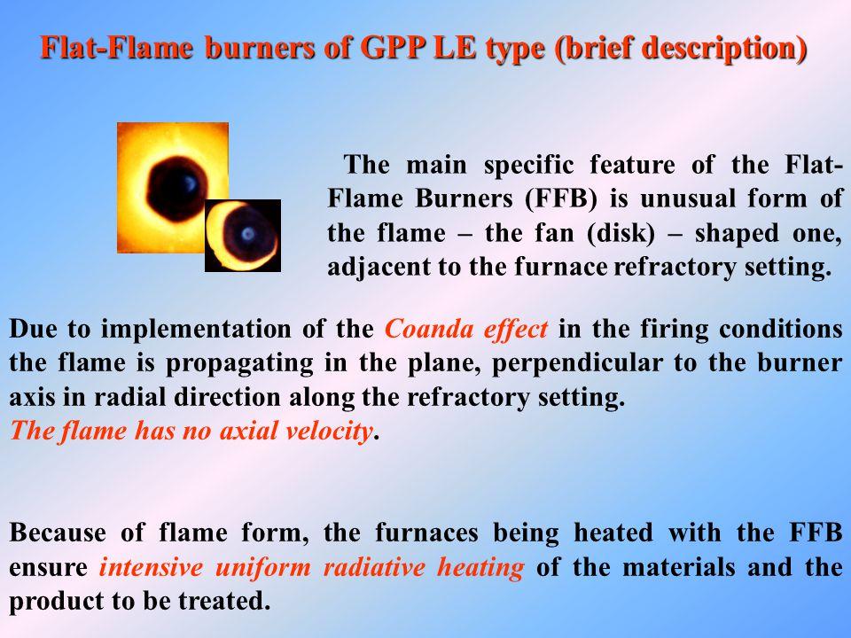 Flat-Flame burners of GPP LE type (brief description)