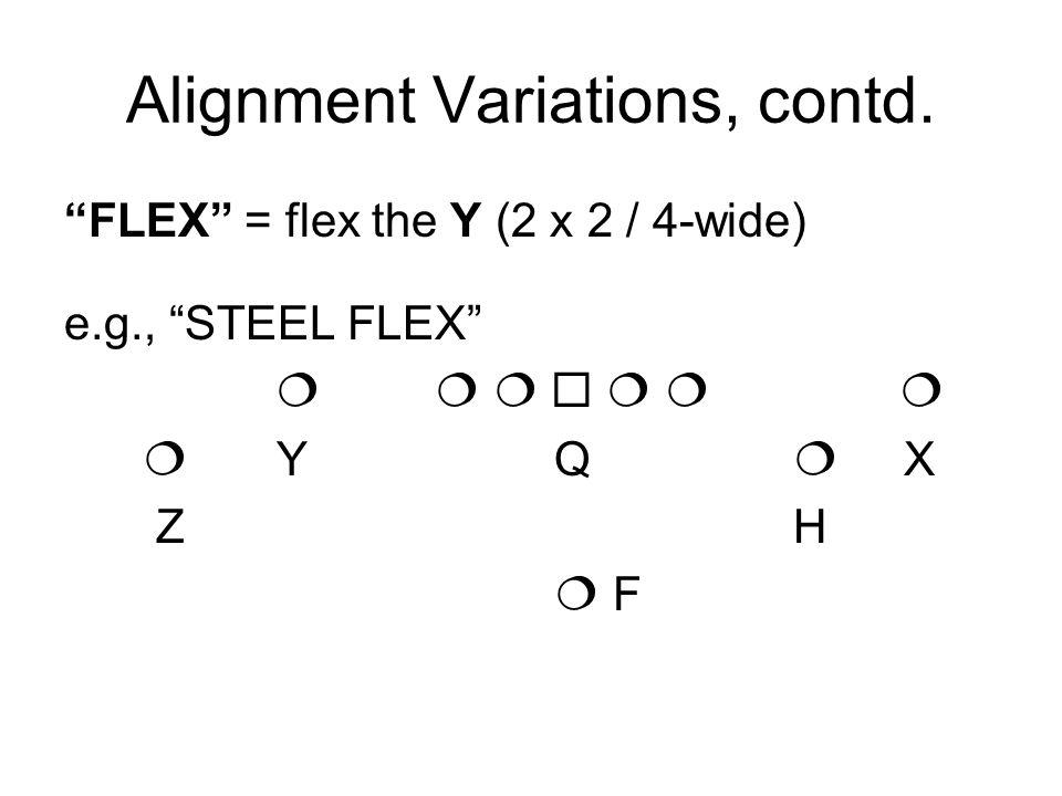 Alignment Variations, contd.