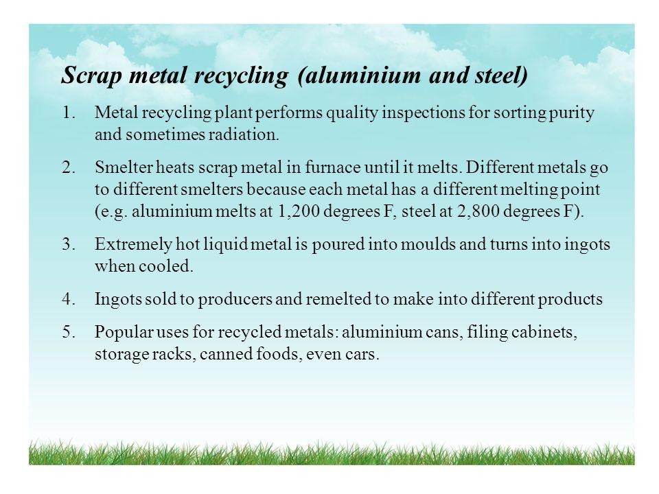 Scrap metal recycling (aluminium and steel)