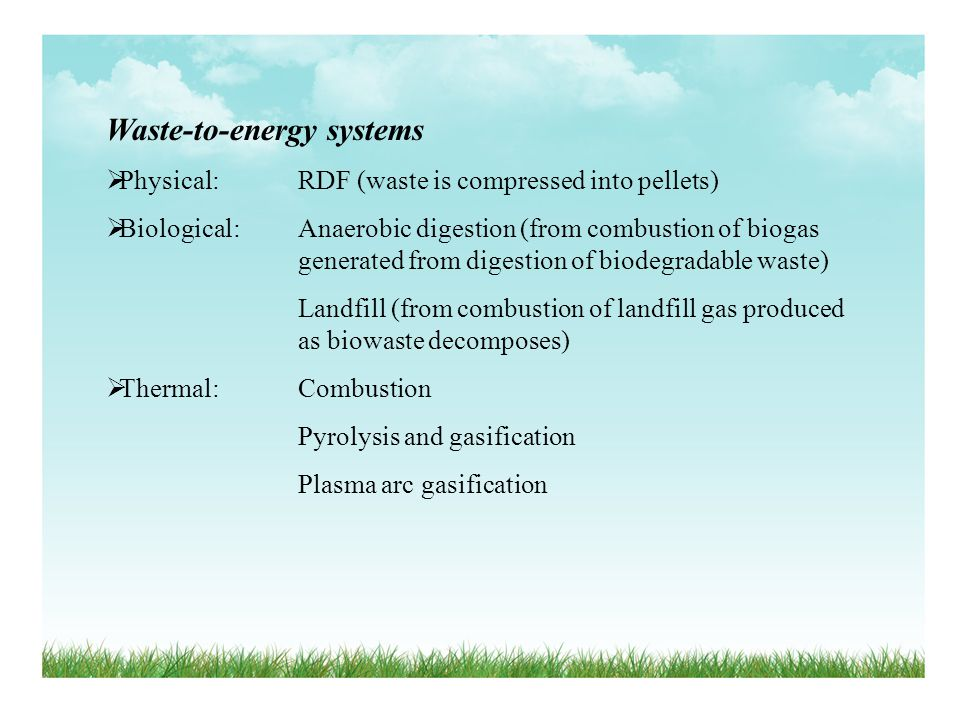 Waste-to-energy systems