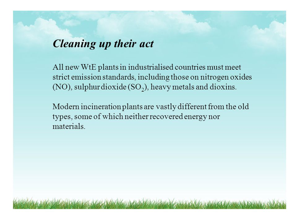 Cleaning up their act