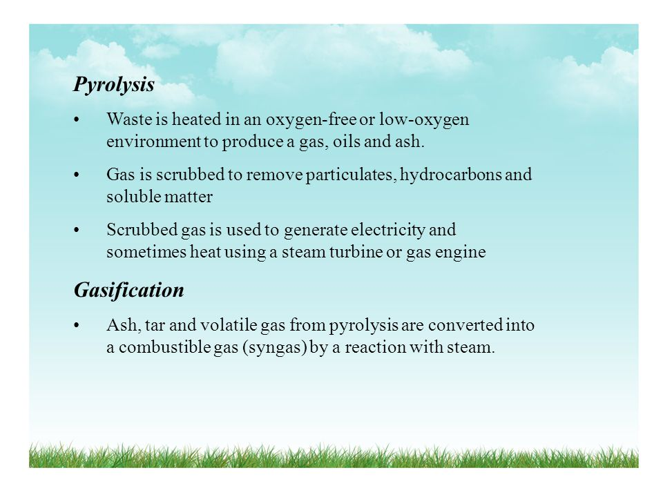 Pyrolysis Gasification
