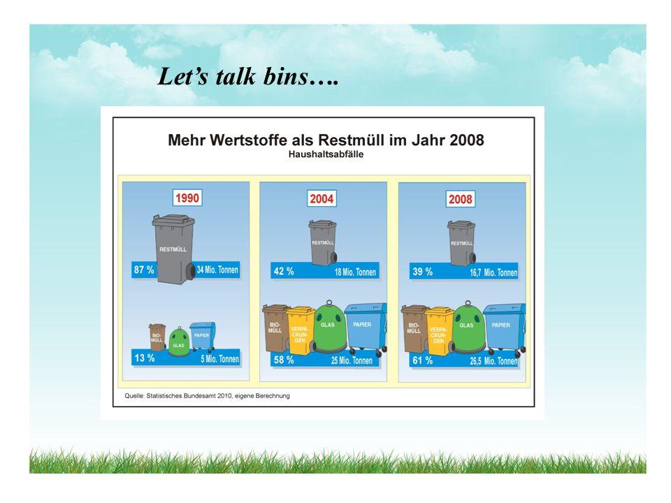 Let's talk bins….
