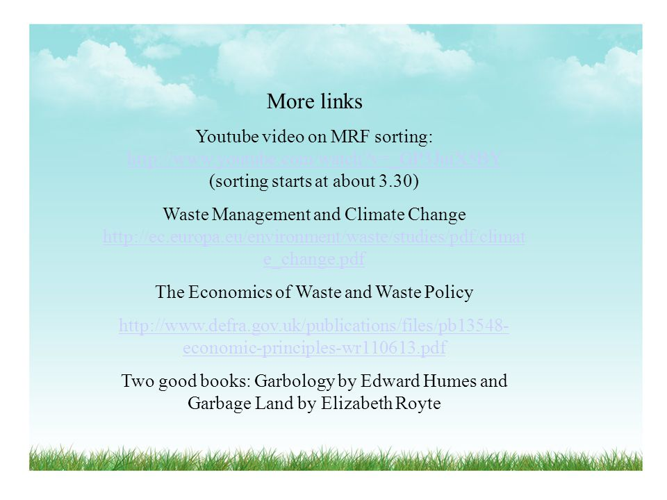 The Economics of Waste and Waste Policy