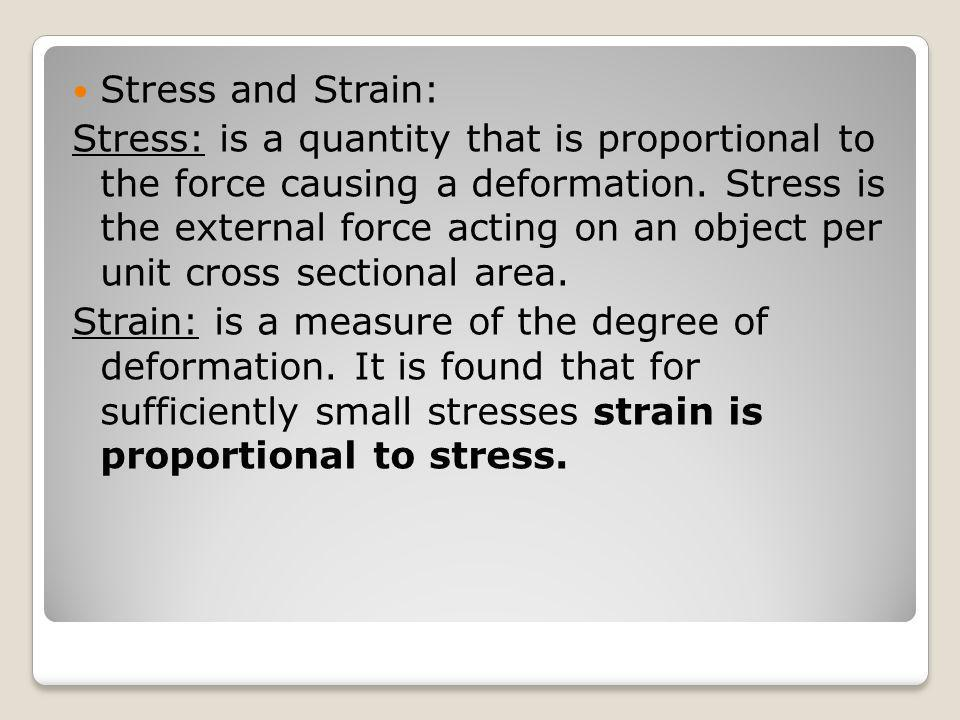 Stress and Strain: