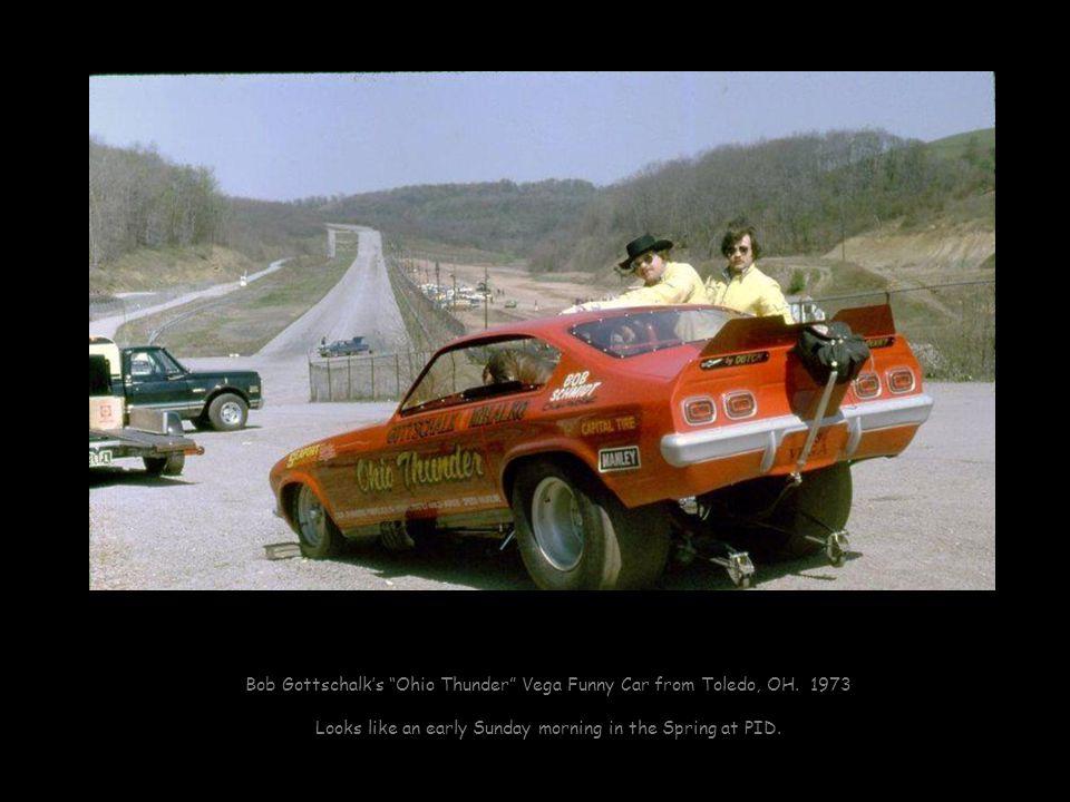 Bob Gottschalk's Ohio Thunder Vega Funny Car from Toledo, OH. 1973