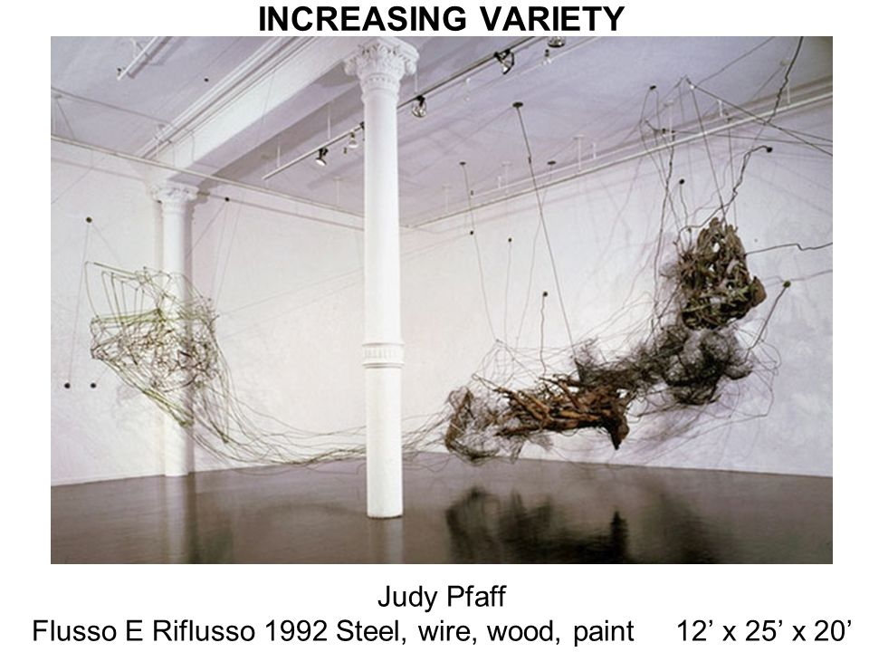 Flusso E Riflusso 1992 Steel, wire, wood, paint 12' x 25' x 20'