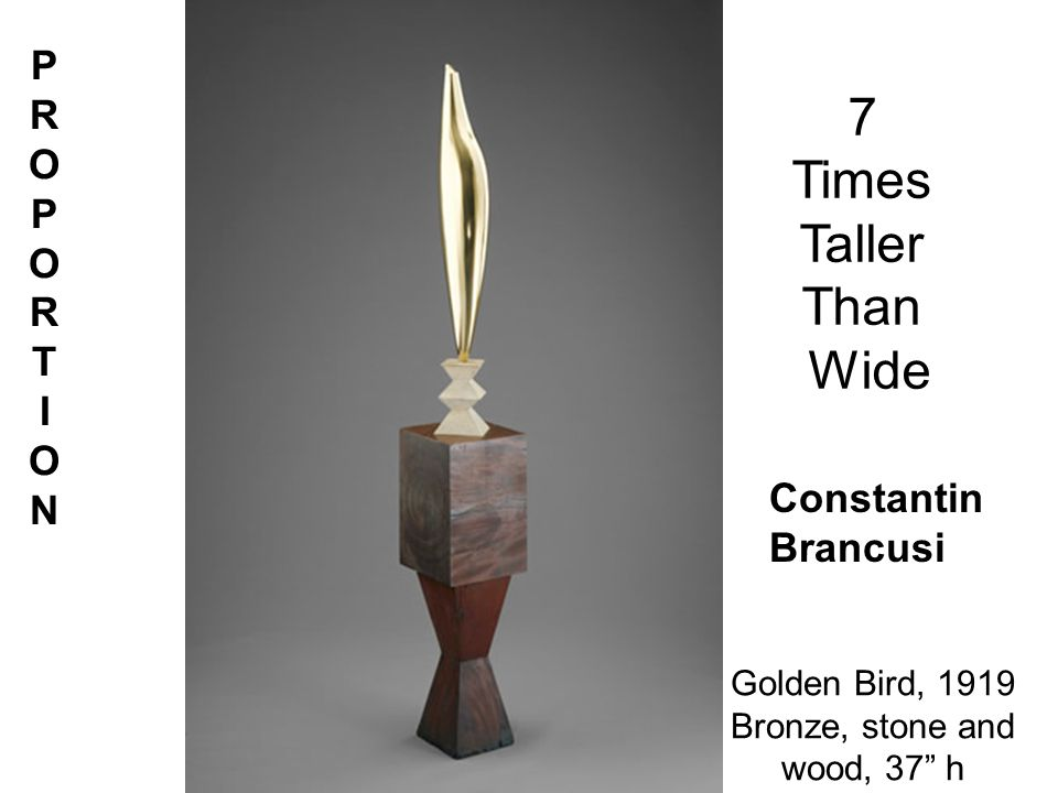 Golden Bird, 1919 Bronze, stone and wood, 37 h