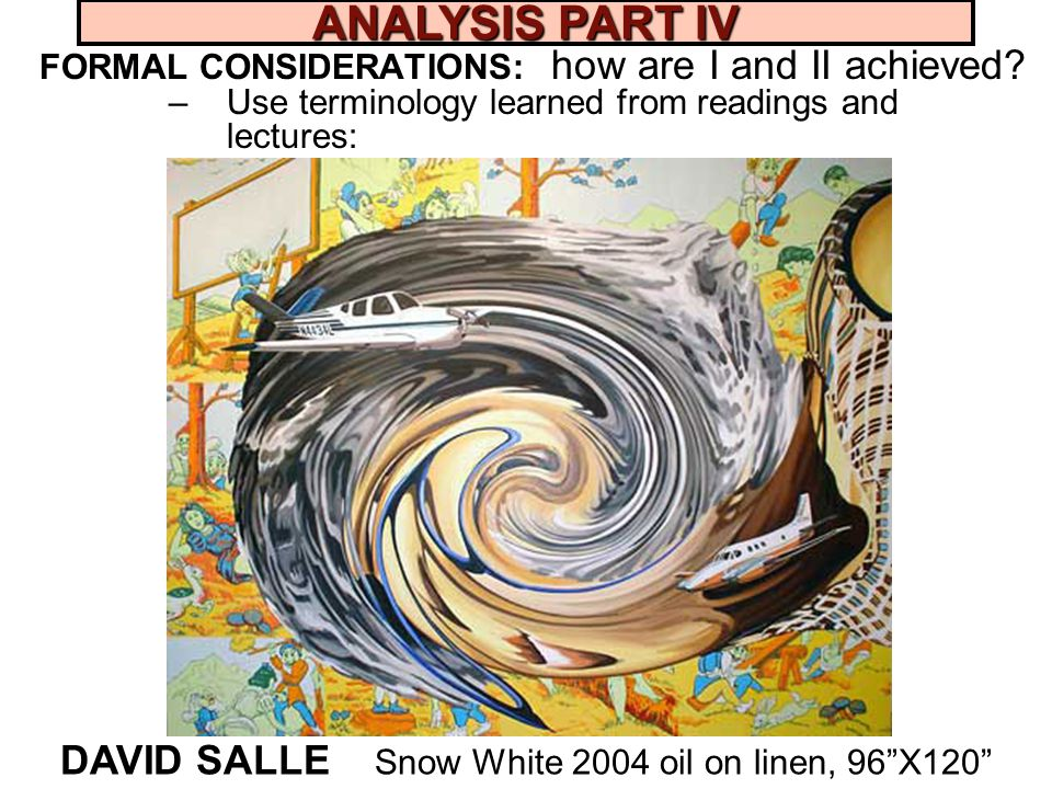DAVID SALLE Snow White 2004 oil on linen, 96 X120