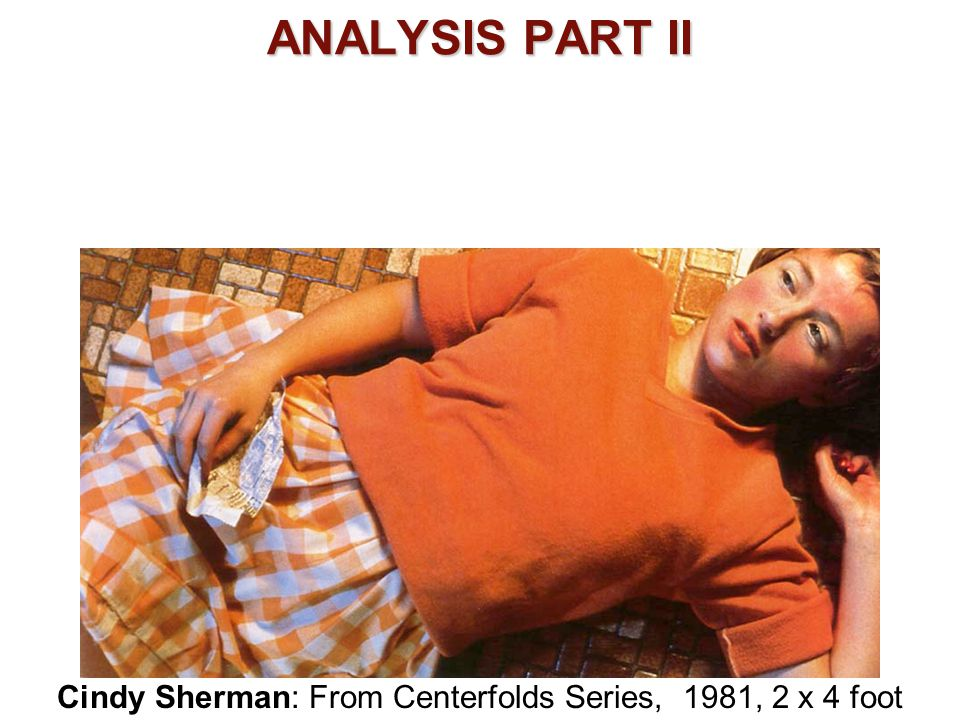 Cindy Sherman: From Centerfolds Series, 1981, 2 x 4 foot