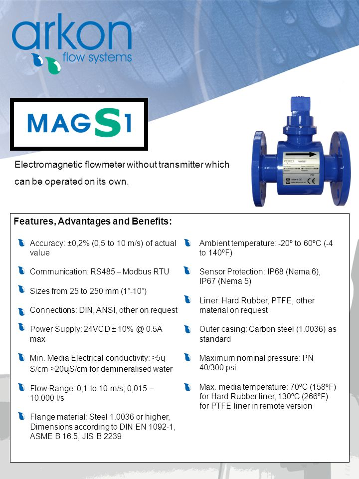 Electromagnetic flowmeter without transmitter which
