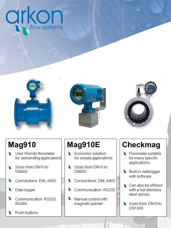 Mag910 Mag910E Checkmag User friendly flowmeter