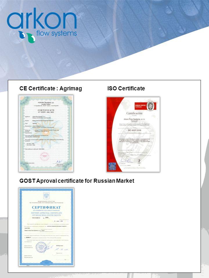CE Certificate : Agrimag