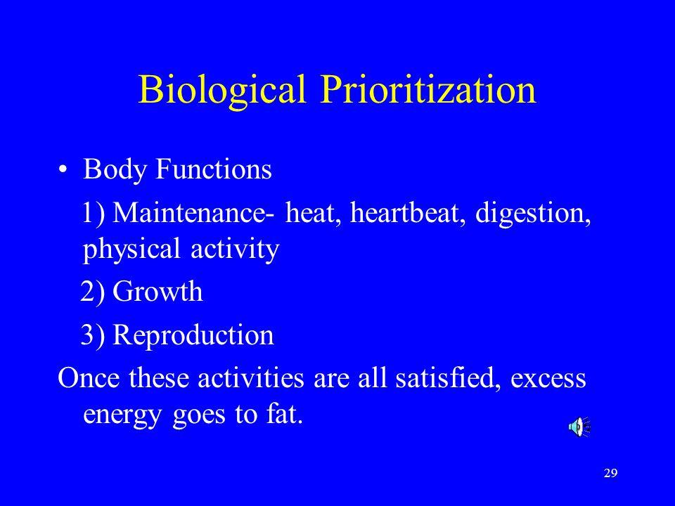 Biological Prioritization