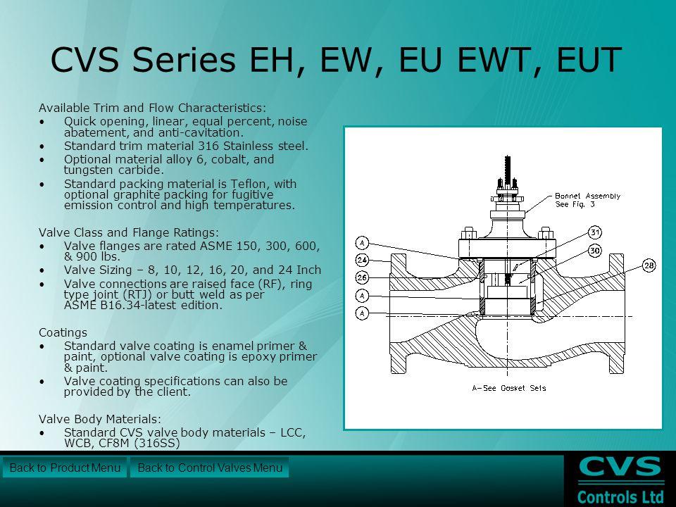 CVS Series EH, EW, EU EWT, EUT