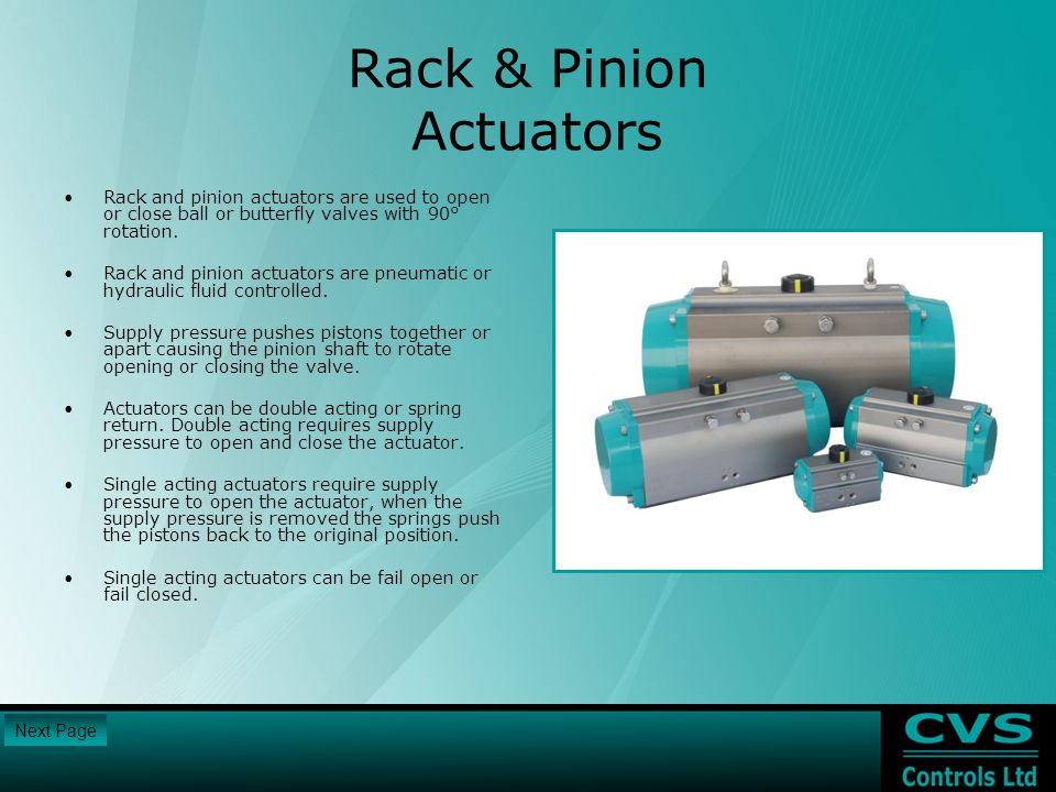Rack & Pinion Actuators