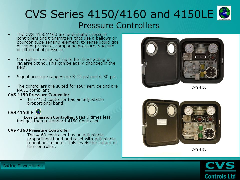 CVS Series 4150/4160 and 4150LE Pressure Controllers