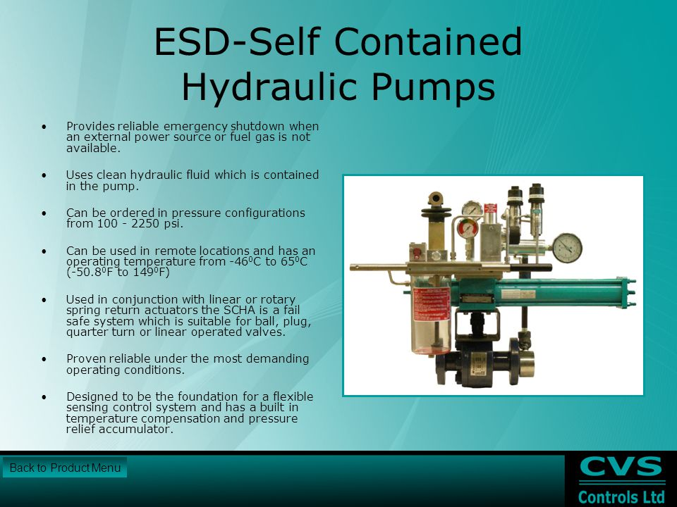 ESD-Self Contained Hydraulic Pumps