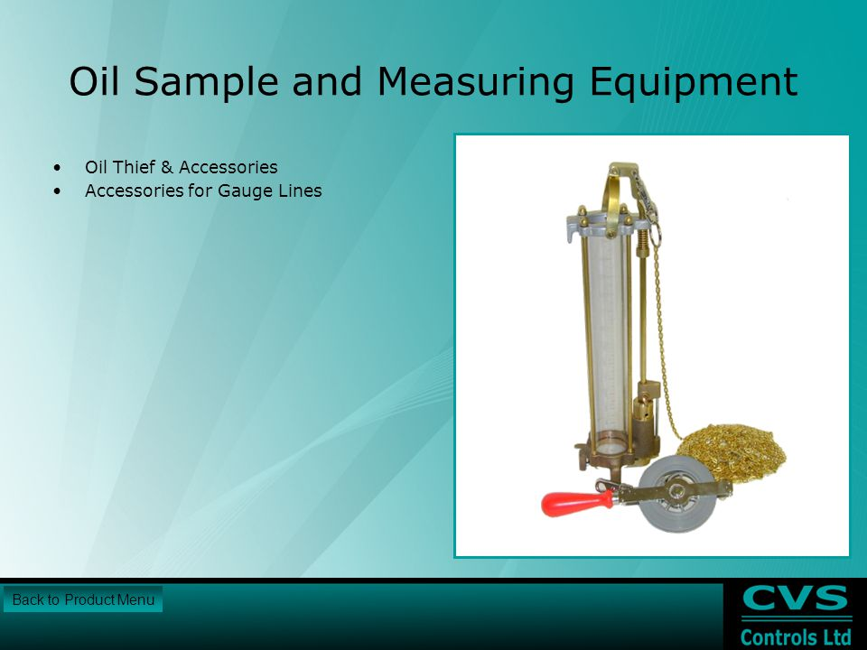 Oil Sample and Measuring Equipment