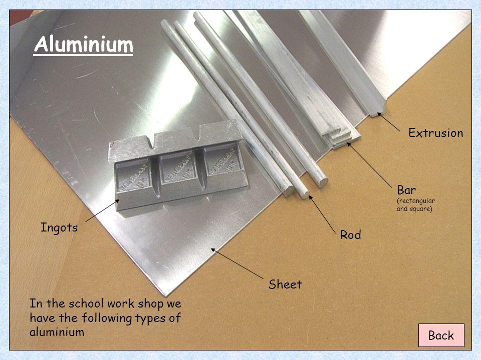 Aluminium Extrusion Bar (rectangular and square) Ingots Rod Sheet