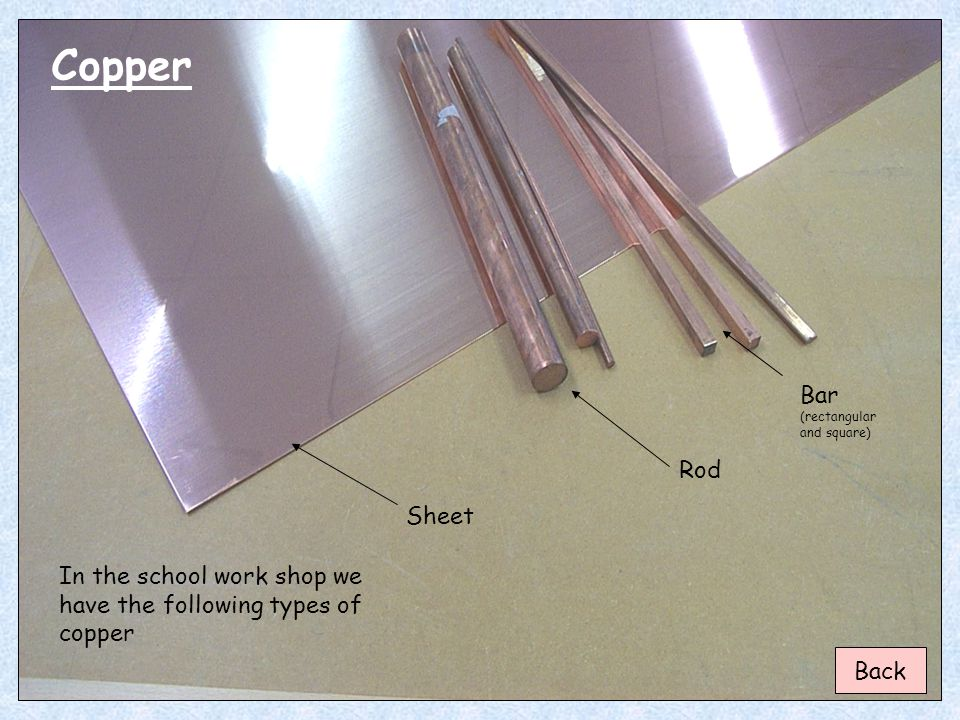 Copper Bar (rectangular and square) Rod Sheet